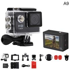 Action Camera EKEN A9 1080P 140D Full HD 2'' Waterproof Outdoor Mini Cam 1920*1080 go Sport Video pro Camera hero 3 style //Price: $53.54      #followme