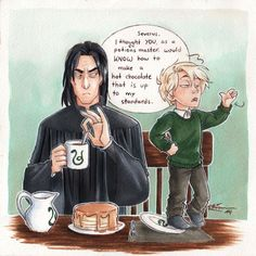 Draco spends the weekend with his godfather. ^-^ by CaptBexx // oh Draco you little shit