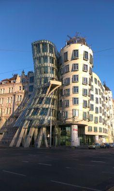 Praga - Tanczacy Domek / Dancing House, Prague Tower, Building, House, Travel, Prague, Europe, Voyage, Lathe, Home