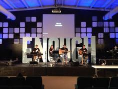 Jimmy Hudson from The Rock of NEA in Jonesboro, AR brings us this app wall and giant text. They used foam boards that they cut out with… Stage Lighting Design, Stage Set Design, Church Stage Design, Giant Letters, Foam Letters, Large Letters, Church Interior Design, Christmas Stage, Stage Props