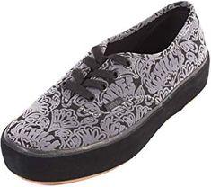 4faddf47f9d52e Vans Women s Authentic Sidewall Wrap Platform Lace Up Trainer Black