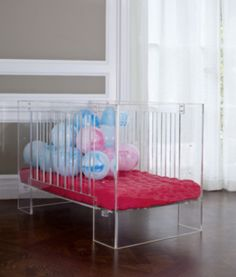 Inspired by Charles Hollis Jones, a pioneer in acrylic furniture design, the Hollis crib is a unique and sophisticated sleeping spot for your little one. Crafted from non-toxic and recyclable lucite, our patented* design features beautiful curved edges and three level mattress heights.