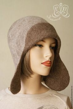 Felt Hat, Wool Felt, Wet Felting Projects, Hair Scarf Styles, Rose Hat, Millinery Supplies, Felt Shoes, Recycled Sweaters, Beanies