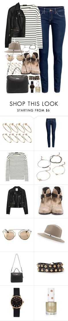 """""""Outfit with dark jeans and boots"""" by ferned ❤ liked on Polyvore featuring ASOS, H&M, J.Crew, Forever 21, Zara, rag & bone, Christian Dior, Linea Pelle, Marc by Marc Jacobs and Topshop"""