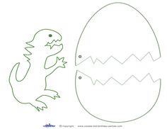 Medium Printable Dinosaur Craft - Coolest Free Printables The Effective Pictures We Offer You About Dinosaur clipart A quality picture can tell you many things. You can find the most beautiful picture Dinosaur Theme Preschool, Dinosaur Activities, Dinosaur Crafts, Craft Activities, Dinosaur Template, Dinosaur Printables, Egg Template, Dinosaur Eggs, Dinosaur Art