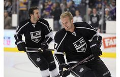Yup, Philly - these guys were definitely the problem. Good thing you cut them loose. Mike Richards, left, and Jeff Carter, formerly of the Philadelphia Flyers; now headed to the Stanley Cup Finals with the LA Kings. Hot Hockey Players, Nhl Players, Hockey Teams, Hockey Baby, Ice Hockey, Hockey Girls, Ariana Grande, Jeff Carter, Mike Richards