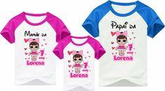 kit-3-camisetas-aniversario-lol-surprise-boneca-lol-surprise-kit-mamãe-papai-kit-família