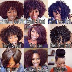 Natural hair diversity