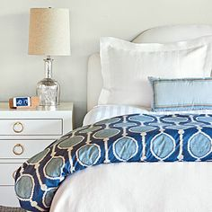 Organic & Modern Bedroom Makeover | Layer on a new look with this Organic & Modern $300 Bedroom Makeover! | SouthernLiving.com