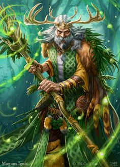 Magnus Ignis - Druid eveolved by PeterLumby.deviantart.com