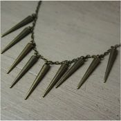 Brass Spiked Necklace available at Sawyer & Scout