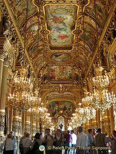 Paris Opera House Chandelier | Paris Opera House Chandelier | Palais Garnier Grand Foyer, Opera ...
