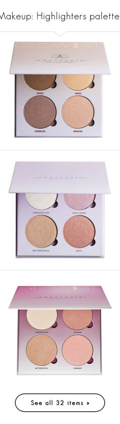 """""""Makeup: Highlighters palettes"""" by katiasitems on Polyvore featuring beauty products, makeup, beauty, fillers, highlight, face makeup, cosmetics, highlight makeup, anastasia beverly hills cosmetics and highlight kit makeup"""