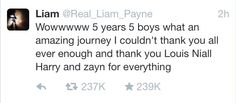 #ThanksFor1D OMG WHEN ZAYN RETWEETED THIS AND THANKED LIAM!!!! KILLED ME RIGHT THEN AND THERE!!! ZIAM!!!