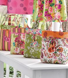 Free Pattern for Zest Tote Bags - Okay I think it's time I learned to sew!