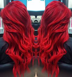 TOP hairstyles that you will love! Weekly hair collection: 31 TOP hairstyles that you will love!Weekly hair collection: 31 TOP hairstyles that you will love! Red Hair Color, Cool Hair Color, Top Hairstyles, Pretty Hairstyles, Bright Red Hairstyles, Hairstyle Ideas, Crimson Red Hair, Coloured Hair, Bright Colored Hair