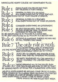 10 Rules for Students and Teachers (and Life) by John Cage and Sister Corita Kent | Brain Pickings