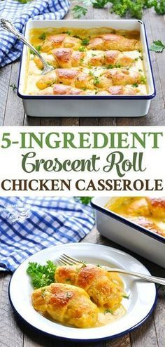 5 Ingredient Crescent Roll Chicken Casserole is an easy dinner recipe that comes together in about 10 minutes! 5 Ingredient Crescent Roll Chicken Casserole is an easy dinner recipe that comes together in about 10 minutes! Dinner Rolls Recipe, Easy Dinner Recipes, Easy Meals, Easy Dinners For Two, Croissant Dinner Recipe, Winter Dinner Recipes, Dinner Ideas, Chicken Crescent Rolls, Le Diner