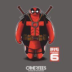 """Big Deadmax 6"" by FernandoSala T-shirts, Tank Tops, V-necks, Sweatshirts and Hoodies are on sale until February 19th at www.OtherTees.com #deadpool #baymax #marvel #marvelstudios #marvelcomics #disney #bh6 #bighero6 #bigherosix #othertees #tshirts #comics"