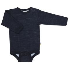 Dark navy blue bodysuit with long sleeve. Navy Blue Bodysuit, Online Shopping Mall, Unisex Baby Clothes, Kids Wear, Organic Cotton, Long Sleeve, How To Wear, Tops, Collections