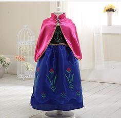 2016 year New Kids Anna Elsa Costume Dress For Girls Princess Dresses Children Party Costume Fairy Tales Princess Elsa Dress Cos