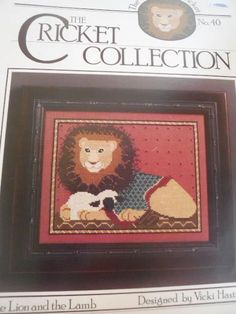 THE CRICKET COLLECTION The Lion and The Lamb Cross Stitch Pattern #40 #TheCricketCollection