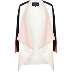 Pastelowy żakiet - River Island, 309zł http://www.riverisland.com/women/coats--jackets/jackets/Cream-colour-block-waterfall-jacket-655590