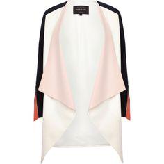 Pastelowy żakiet - River Island, 309zł http://www.riverisland.com/women/coats--jackets/jackets/Cream-colour-block-waterfall-jacket-655590