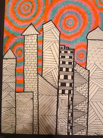 Sharpies, paint, and paper! Oh my!: 8th Grade Art