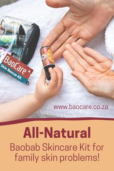 Get your family's skin the help it needs! The BaoCare SkinCare Kit contains 5 natural, multi-tasking baobab remedies that can help with the skin conditions you or your family may be struggling with. It is a great gift to give to a mom-to-be or a friend looking for an all-in-one natural solution for family skin problems. #baocareskincare #baobabremedies #baobaboil #naturalcare Baobab Oil, Natural Solutions, Stretch Marks, Skin Problems, Dark Spots, Pimples, Dry Skin, Natural Skin Care, The Help
