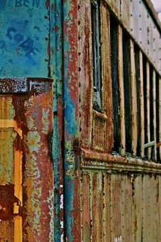 Rusty Train in South Carolina. Abstract Photography, Color Photography, Rust Paint, Patina Paint, Decay Art, Rust Never Sleeps, Rust In Peace, Peeling Paint, Nature Artwork
