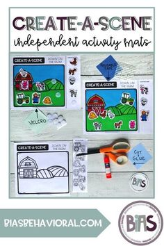 Create-A-Scene mats can be used to address a variety of skills and concepts in both an errorless or creative learning format. #biasbehavioral