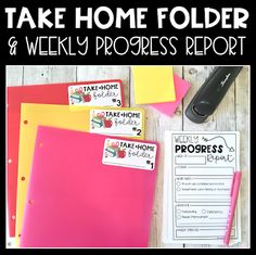 Upper Elementary Snapshots: Using Take Home Folders for Parent Communication