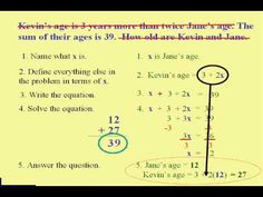 steps for solving word problems what operation to use study  beginning algebra word problem steps for my daughter who forgets and wants me to help her