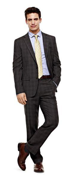 stafford slim-fit jacket silk tie and slim-fit suit pants