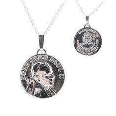 Pope John Paul II Silver Medal with 20 inch chain, $69.95.  #CatholicCompany