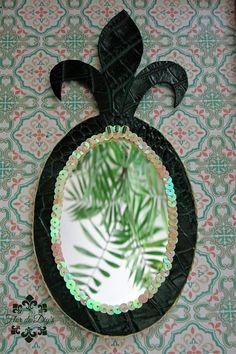 Flor de diy's: Espejo piña