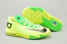 best service f3218 94b46 Nike Zoom Kevin Durant s KD VI Low Basketball Shoes Womens Green Black  61398 - See more