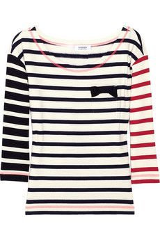 sonia by sonia rykiel striped cotton jersey t-shirt...use our Weekender Cabana T for this one and mix up those stripes http://www.hotpatterns.com/products/HP-1035-Weekender-Cabana-T%252dShirts.html
