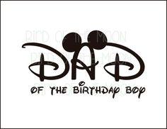 dad  of Birthday boy Minnie Mouse Mickey Mouse DIY Printable Iron Transfer Disney trip shirt vacation Disney Family Cruise Wedding