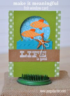 In-site-full: Make It Meaningful: Die Cut Fish Window Card