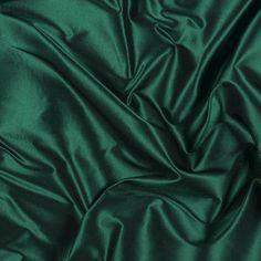 Emerald Green Silk Taffeta, Fabric By The Yard