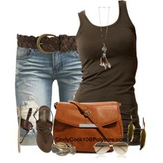 """""""Shorts and Tank"""" by cindycook10 on Polyvore"""