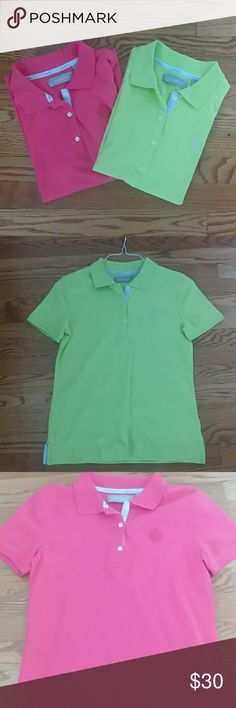 BUNDLE OF LIZ CLAIBORNE POLOS SMALL Same polo 2 colors, pink and green, great condition Liz Claiborne Tops