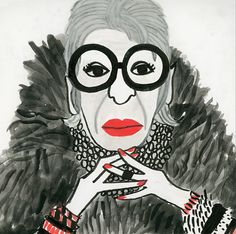 Iris Apfel by Colin Walsh by Tigersheepfriends on Etsy