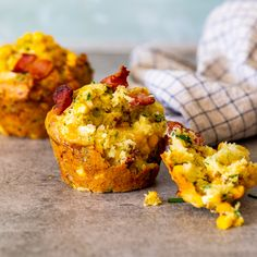These savoury bacon-filled corn muffins go hand-in-hand with warm butter and big appetites. Get the recipe: bacon corn muffins Savory Muffins, Corn Muffins, Baking Muffins, Cheddar, Best Bacon, Best Breakfast, Breakfast Ideas, Side Dishes Easy, Brunch Recipes