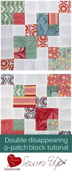 Video tutorial: double disappearing 9 patch block tutorial - This is a very quick and easy block by Sharron Potts