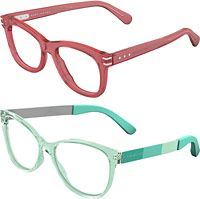 Bold shapes? Check.  Stylish pastels and eye-catching patterns? Check.  These women's frames from Marc Jacobs are perfect for spring and summer.