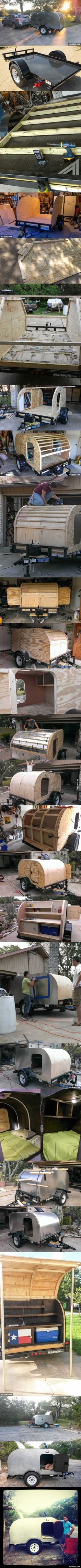 I want to build a tiny camping trailer like this guy's! It looks like it…