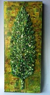 Evolving Leaf by mosaic artist Suzan Germond